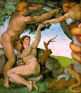 Michaelangelo's Adam and Eve