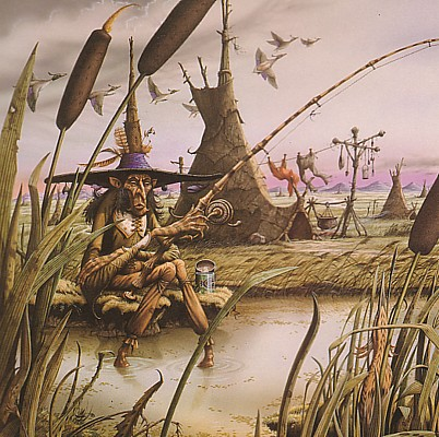 Puddleglum the Marsh Wiggle painting by Rodney Matthews