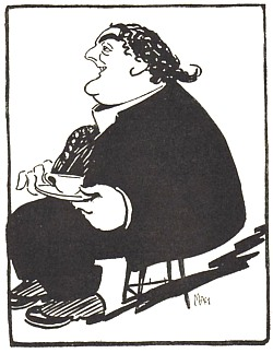 Evening Standard cartoon by Matthew Sandford circa 1925